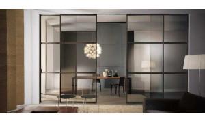 Скляні перегородки - альтернатива міжкімнатних дверей